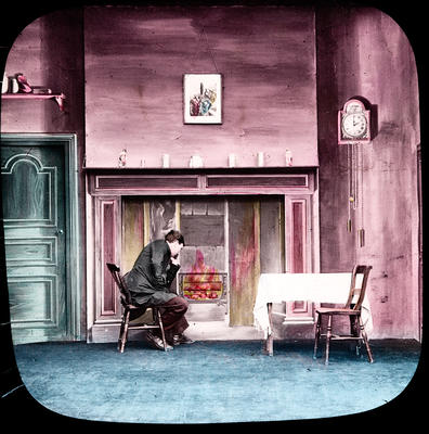 The cricket on the hearth: The Carrier sat down by his fireside