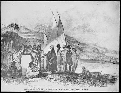 Landing of the Rev. S. Marsden in New Zealand, Dec 19, 1814
