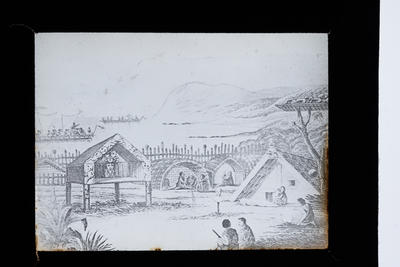 Photograph of a marae scene