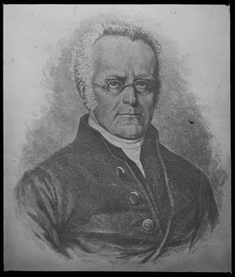 Half length portrait photograph of Henry  Williams (1792 - 1876)