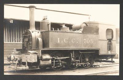 [Steam locomotive ICC 705]