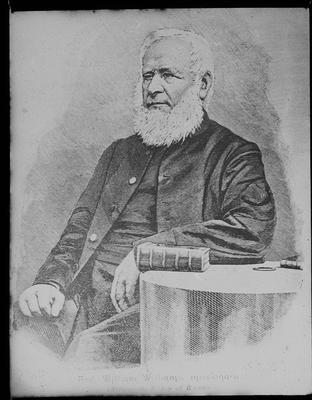 Portrait photograph of William Williams (1829  - 1916) (afterwards Bishop of Waiapu
