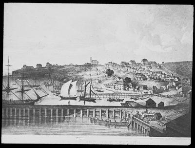 Photograph of a sketch showing  Auckland, New Zealand. No.3