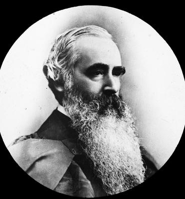 Portrait photograph of William Garden Cowie,( 1831- 1902) Bishop of Auckland