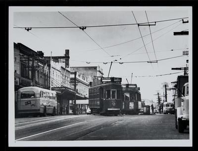 [Tram 185 and 86 on Symonds Street]