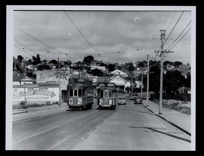 [Tram 244 and 248 on New North Road]