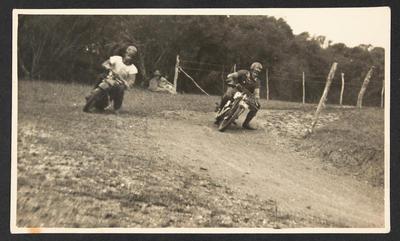 Harold Mathews and Charlie Buchanan match racing