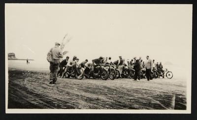 [Motorcyclist on start line]