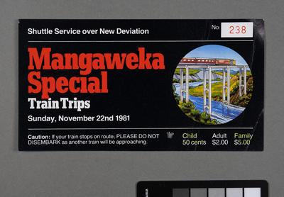 Mangaweka special train trips [tickets]