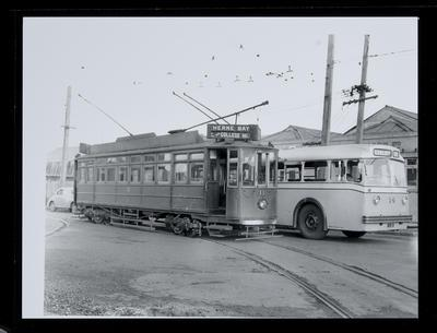 [Tram 11 and trolley bus 14]
