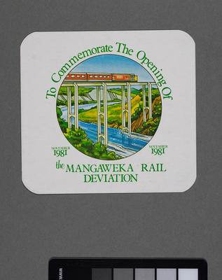 [Commemorative coasters for the Mangaweka deviation]