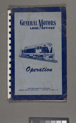 "Diesel-electric locomotive operating manual no. 2352 for model ""G"" general purpose locomotives"