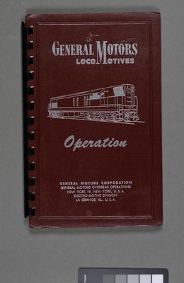 Diesel-electric locomotive operating manual for manuals G8, G12, GR12, G16 locomotives