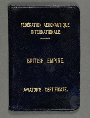 Aviator's certificate. [for Lawson Field]