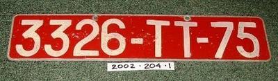 Messerschmitt Vehicle Registration Plate
