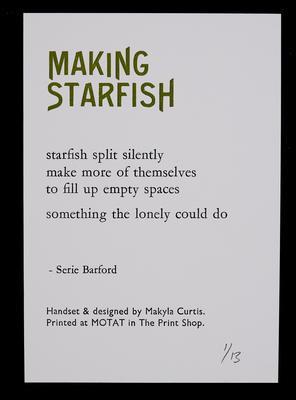 Making starfish