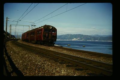 Electric train near Petone Wellington