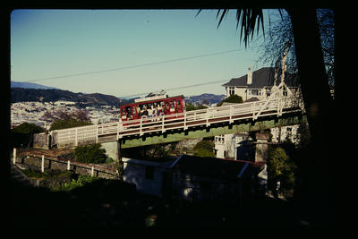 Cable Car first viaduct from Kelburn