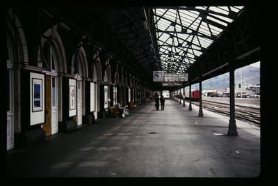 [Dunedin train station platform]
