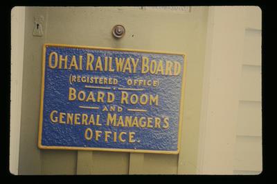 [Ohai Railway Board Sign]