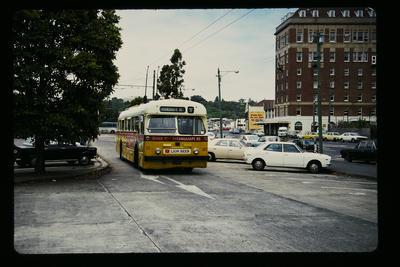 Trolley Bus leaving Railway Station