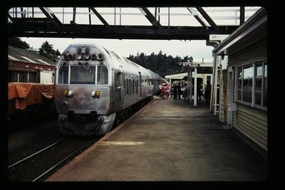 [Boarding Train at Station]