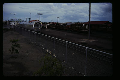 [Train parked on tracks]