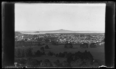 [Glass plate negative Auckland landscape]