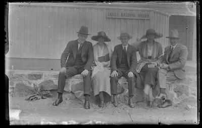 [Glass plate negative unknown people seated]
