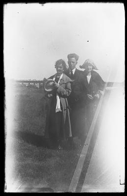 [Glass plate negative unknown people in a field]