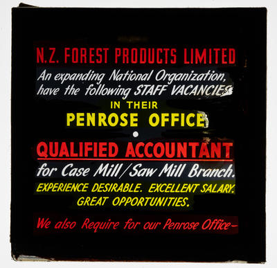 Staff vacancies New Zealand Forest Products Limited