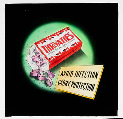 Throaties. Avoid infection carry protection; Unknown; Late 19th Century-Early 20th Century