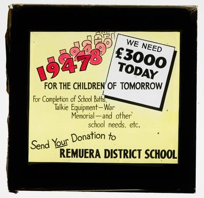 Donation to Remuera School