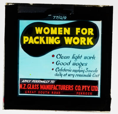 Women for packing work
