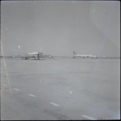 [Aircraft on tarmac at Karachi]