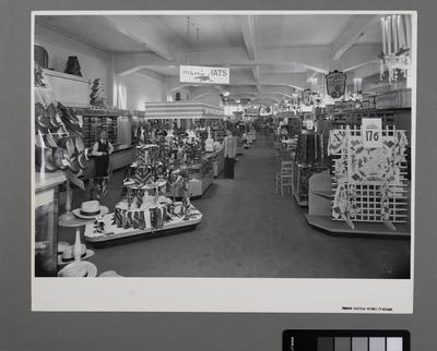 [Interior Mens Hat Department of George Court Department Store]
