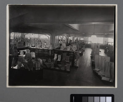 [Interior of store selling linen]