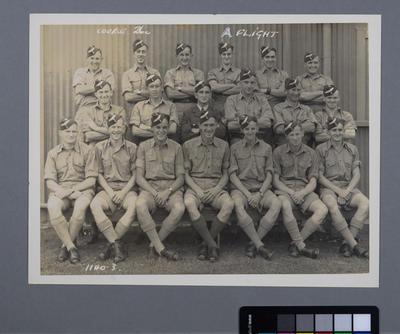 [Group photograph of Course 26c A Flight with signatures]; Crago Studios Ltd; William Raeburn Green; 1940-1944