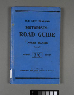 New Zealand motorists' road guide for the North Island
