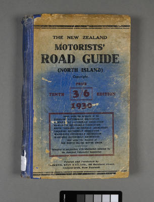 New Zealand motorists' road guide for the North Island; ; 1930