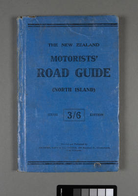 New Zealand motorists' road guide for the North Island; ; [1920s]
