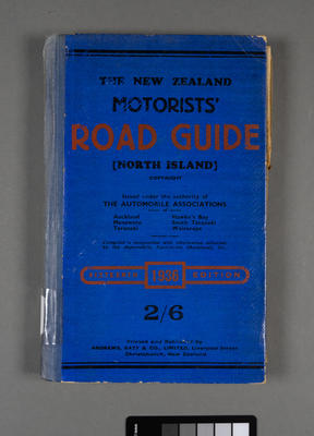 New Zealand motorists' road guide for the North Island; ; 1936