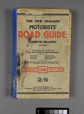 New Zealand motorists' road guide for the North Island; ; 1938