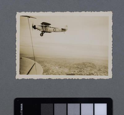 [RNZAF Blackburn Baffin in flight over Auckland]