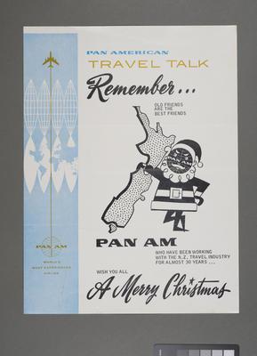 [Pan American Airways media releases and ephemera]