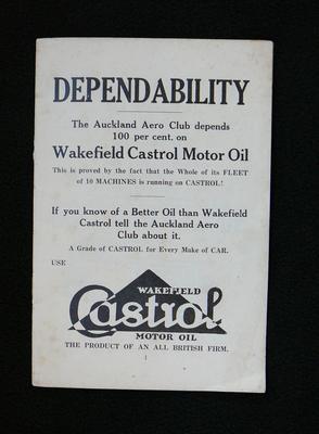 [Auckland Aero Club informational booklet]