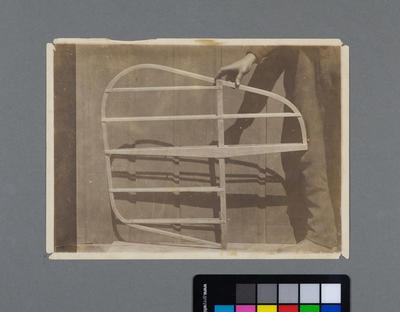 [Print of Hamilton Biplane tail frame]