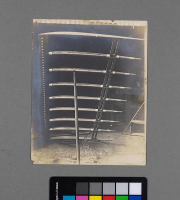 [Print of Hamilton Biplane wing frame]