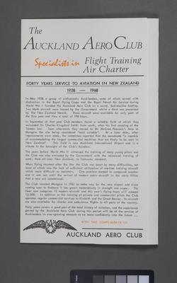 [Auckland Aero Club advertising]