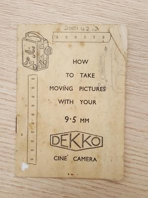 How to take moving pictures with your 9.5mm Dekko cine camera